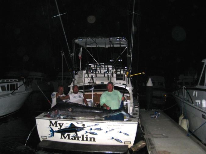 My Marlin fishing Charter 500 lb Black Marlin